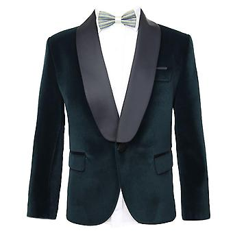 Kingsman Harry Hart Velvet Green Tuxedo Jacket for Boys