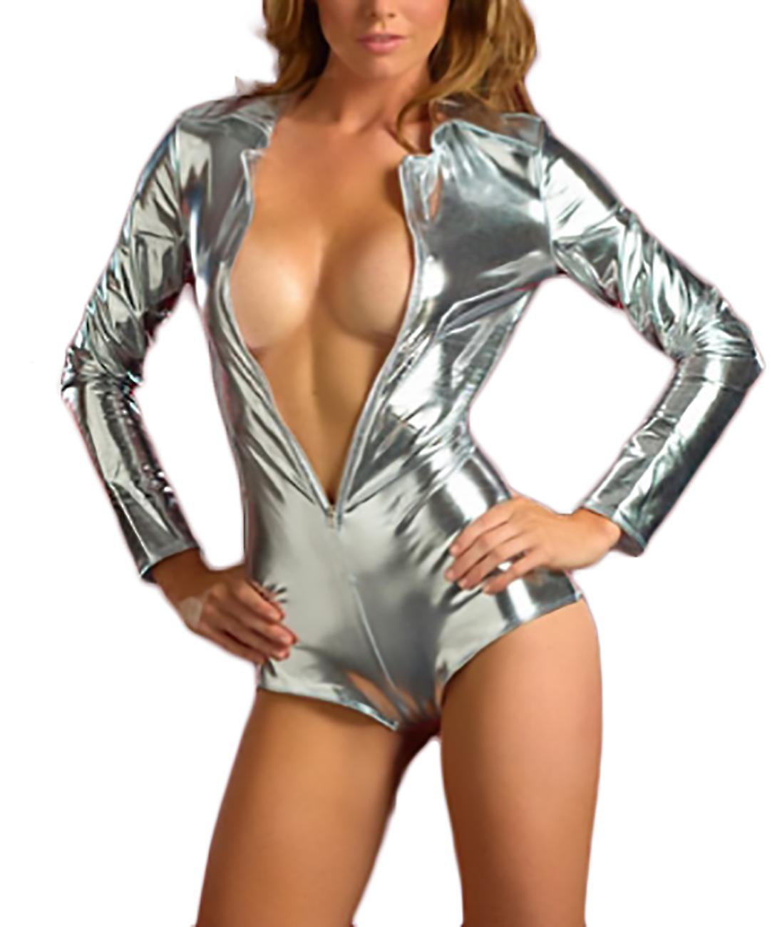 Body shiny sexy long sleeve Sol