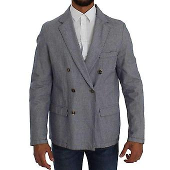 Double Breasted Master jas blauw Fit Regular Blazer--SIG3303621
