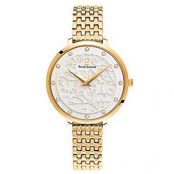 Pierre Lannier EOLIA 053J502 - watch case round steel Gold Bracelet steel gold woman