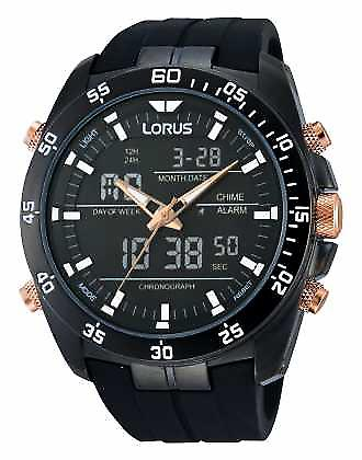 Lorus Black Alarm Chronograph RW615AX9 Watch