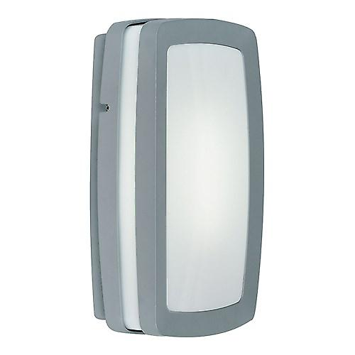 Endon EL-40030 Modern Silver Outdoor Wall Light With Dusk To Dawn Photocell