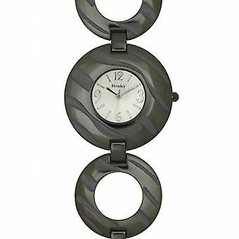 Henley Glamour Ladies Gun Metal Zebra Watch