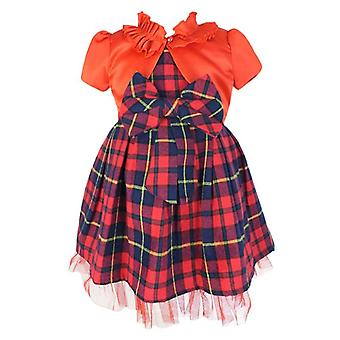 Couche Tot Tartan ärmellose Party rot Check Weihnachten Kleid