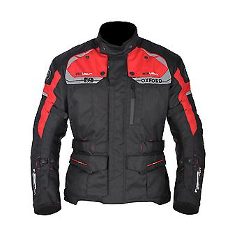 Oxford Black-Red Brooklyn giubbotto moto impermeabile