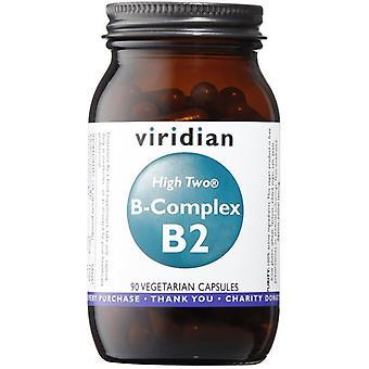 Viridian HIGH TWO Vitamin B2 with B-Complex Veg Caps 90 (237)