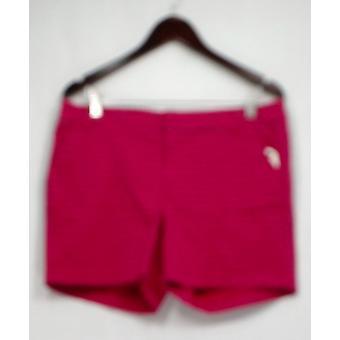 Carlson Shorts Printed Front Zip w/ Pockets Dark Pink