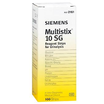 Siemens multistix 10 sg, reagent strips for urinalysis, 100 ea