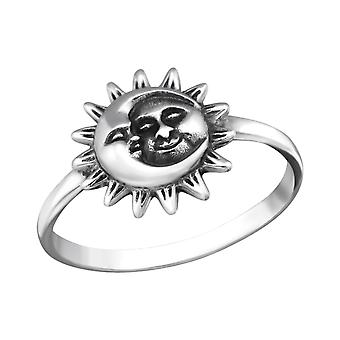Sun And Moon - 925 Sterling Silver Plain Rings - W32298X