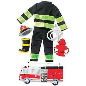 Jolee's Boutique Le Grande Dimensional Sticker Firefighter Spjblg 1 008