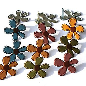 Eyelet Outlet Brads Stitched Fall Flowers Qbrd 79A