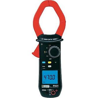 Current clamp, Handheld multimeter digital Chauvin Arnoux F601 Calibrated to: Manufacturer standards CAT IV 1000 V Disp