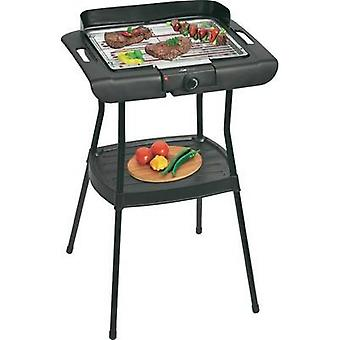 Standing BBQ Clatronic BQS3508 with base, with wind protection Black