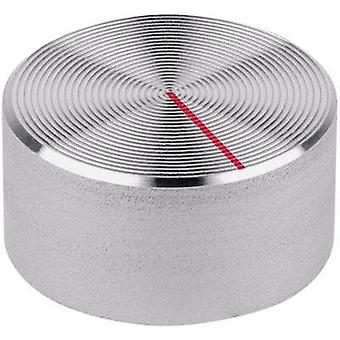 Mentor 523.611 Aluminium Turning Knob, Red Indicator Mark, Protective Finish