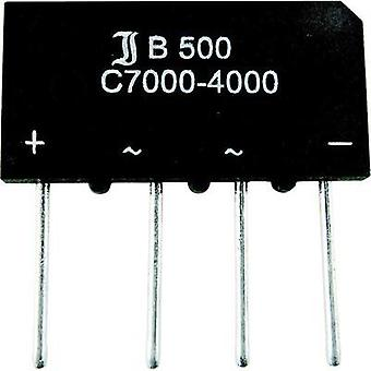 Diotec B 40 C 1500/1000 Silicon Bridge Rectifier 1.4/1.6A Nominal current 1.5 A (2.3 A) U(RRM) 80 V