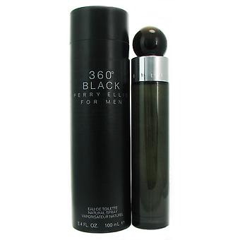 360 Black Men by Perry Ellis 3.4 oz EDT Spray