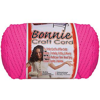 Bonnie Macrame Neon Craft Cord 4mmx100yd-Flamingo BB4100N-153