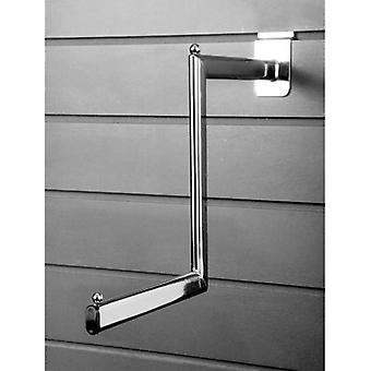 Metal Slatwall Stepped Clothing Display Arm