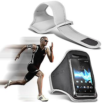 ( White ) Doogee T3 case High Quality Fitted Sports Armbands Cover By i-Tronixs
