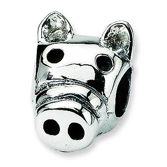 Sterling Silver Reflections SimStars Kids Pig Bead Charm