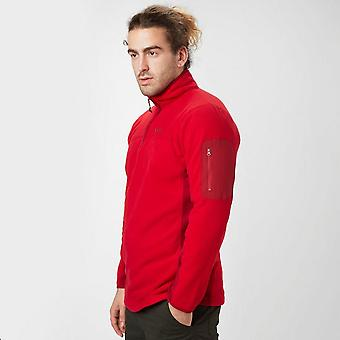Red Peter Storm mannen paneel Half Zip Fleece