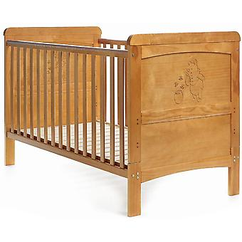 Disney Winnie the Pooh Deluxe Cot Bed - White/Pine Trim