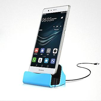 ONX3 (Blue) ZTE Blade X3 Desktop Charger Micro USB Base Stand Data Sync Charging Docking Station