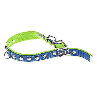 Dual Diamonds Cf15/35 Nylon Collar Blue/green 15mm X27-35cm