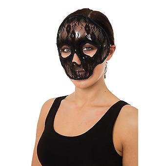 Máscara de calavera encaje