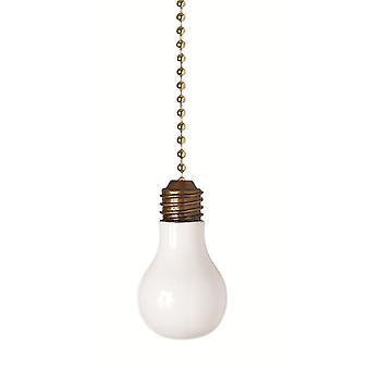 Ventilador de techo decorativo de bombilla de luz Dimensional Pull