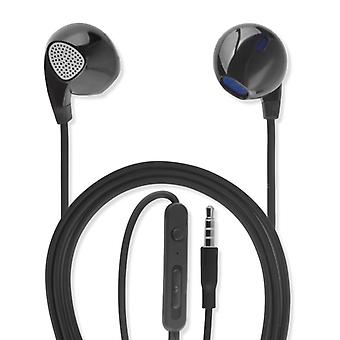 In-ear stereo headset melody 3.5 mm audio cable 1.2 m headphones black