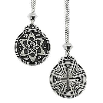 Handgefertigte Talisman für Dichter, Schriftsteller und Schauspieler Schlüssel von Solomon Siegel Pentagramm hermetischen Enochian Kabbalah Zinn Anhänger ~ 36 Zoll schwarz Kabel
