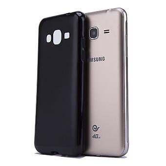 Klares Gel Case + Stift für Samsung Galaxy J5 (2016) SM-J510 - schwarz