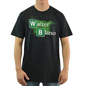 Breaking Bad Walter Blanco mænds sort T-shirt