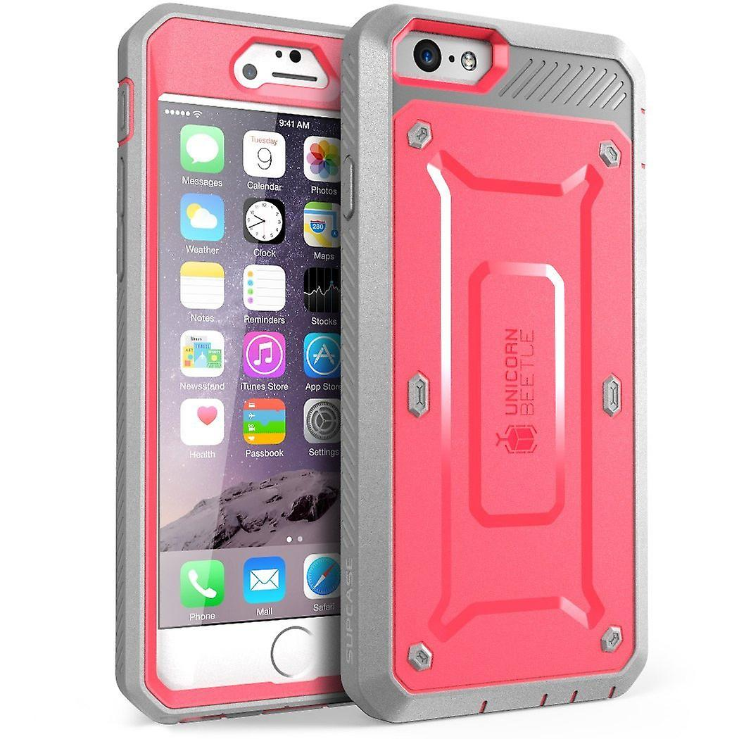 SUPCASE-Apple iPhone 6 Plus-Unicorn Beetle Pro with Built-in Screen-Pink Gray