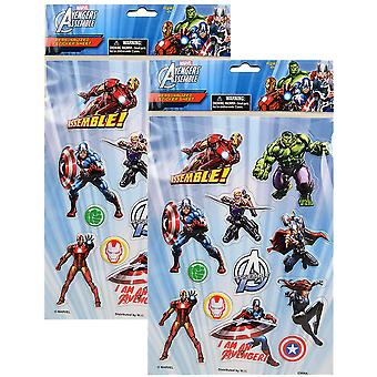 Marvel hævnere samle personlig Sticker ark [2 Pack]