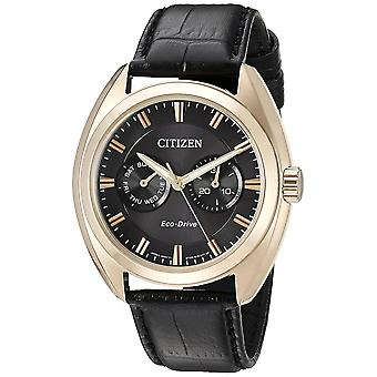 Citizen Eco-Drive Paradex Leather Mens Watch BU4013-07H