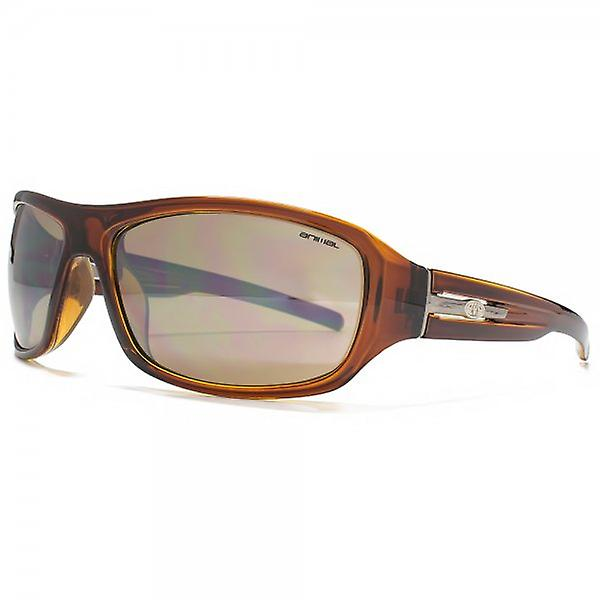 Animal Carve Large Wrap Sunglasses In Brown