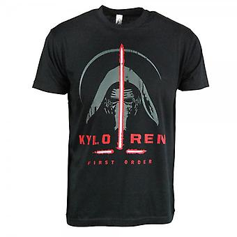 Star Wars Mens Star Wars The Force Awakens Kylo Ren T Shirt Black