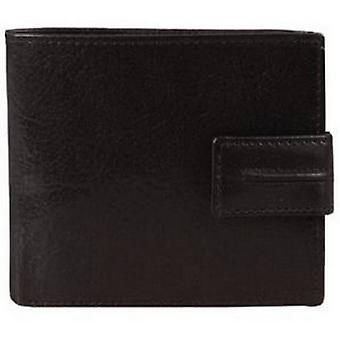 Dents Leder 3 Card Bill-Fold Geldbörse - schwarz