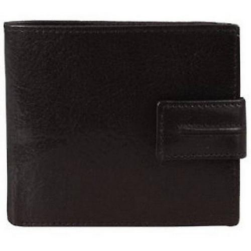 Dents Leather 3 Card Bill-Fold Wallet - Black