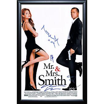 Mr. & Mrs. Smith - ondertekend filmposter