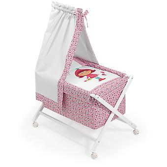 Interbaby Nogal minicuna canopied Model Riding Hood
