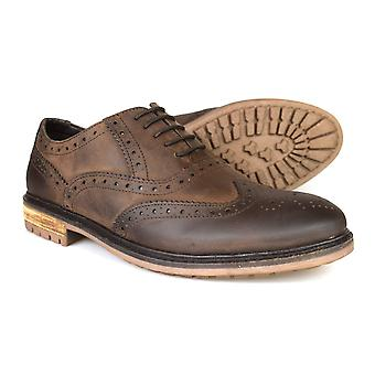 Silver Street London Central Mens Brown Leather Country Brogues