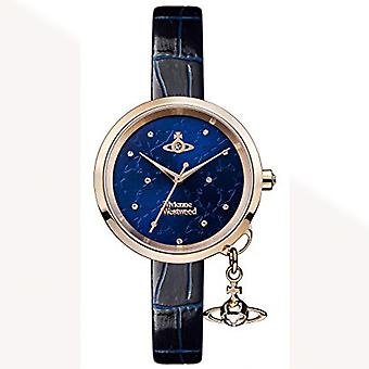Vivienne Westwood Vivienne Westwood Vv139nvnv Bow Ii Rose Gold & Navy Leather Ladies Watch
