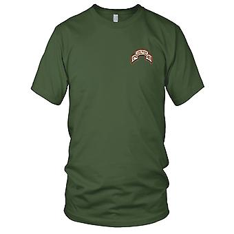 US Army - 10th Mountain Infantry Division LRS Desert Embroidered Patch - Mens T Shirt