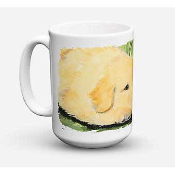Golden Retriever diskmaskin säkra mikrovågssäker keramisk kaffe Mugg 15 uns