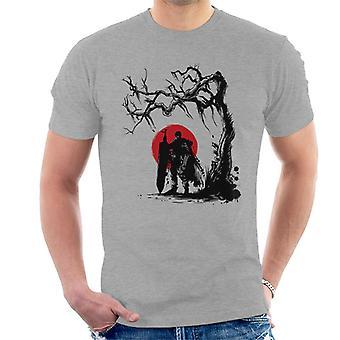 Beserk Black Swordsman Under The Sun Men's T-Shirt