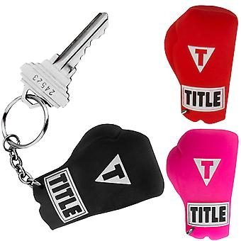 Title Boxing Authentic Rubber Replica Boxing Glove Keyring