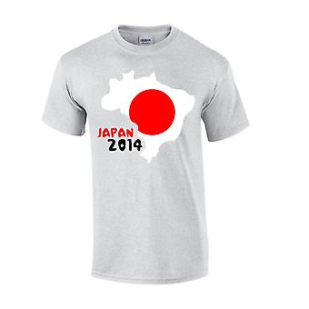 Japan 2014 land vlag T-shirt (grijs)